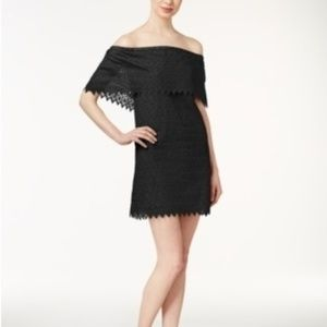 Kensie Off the Shoulder Layered Shift Dress NWT